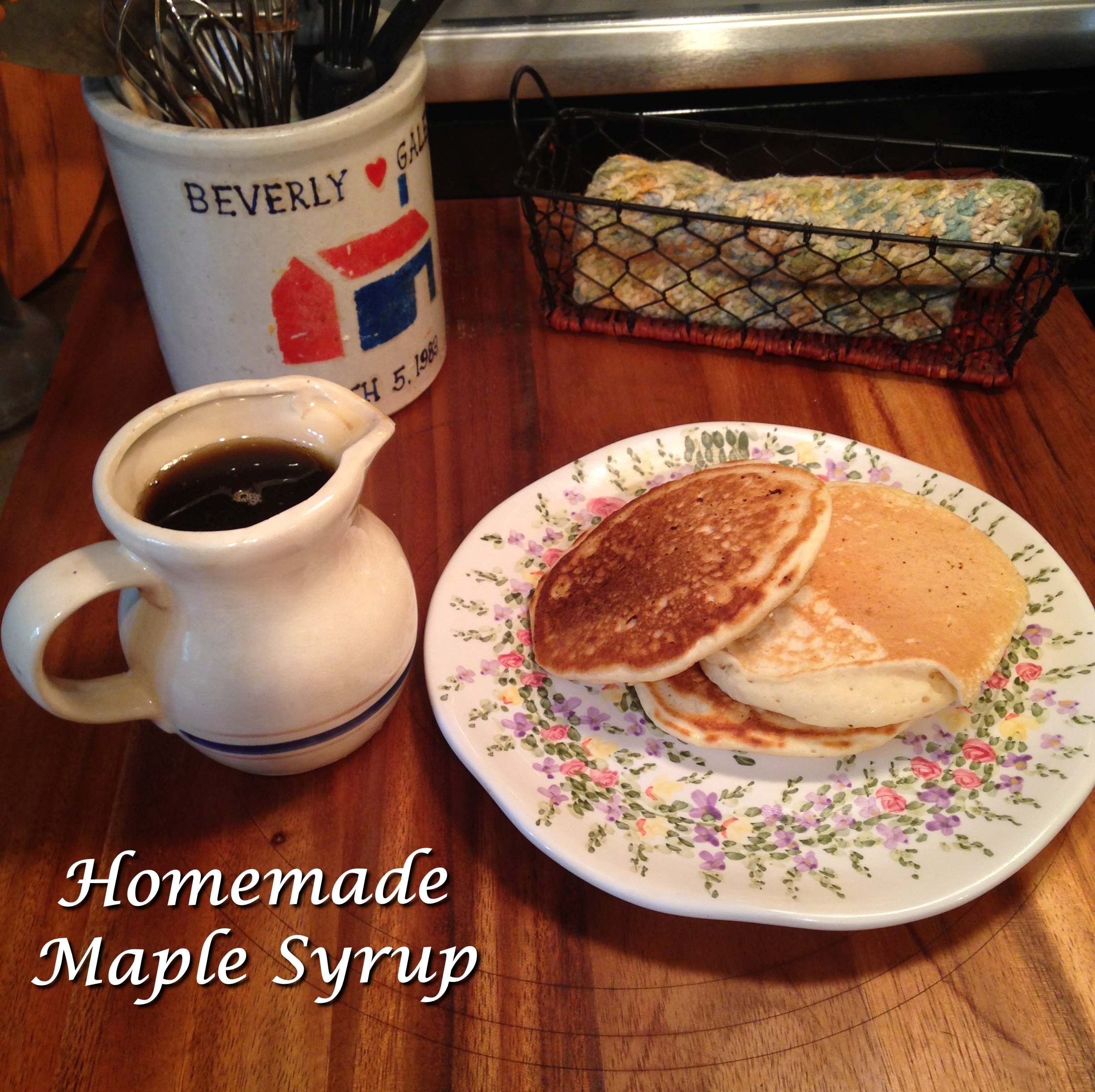 how to make maple syrup homade