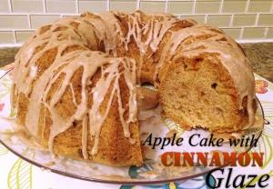 Apple Cake with Cinnamon Glaze