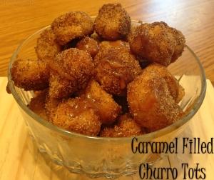 Caramel Filled Churro Tots