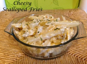 Cheesy Scalloped Fries