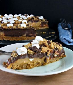 Frozen Smores Peanut Butter Pie - Cooking with Cakes