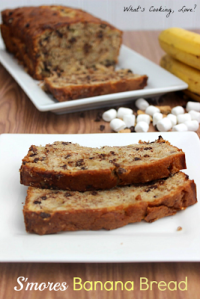 S'mores Banana Bread-What's Cooking Love