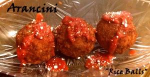 Arancini aka Rice Balls