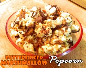 Butterfinger Marshmallow Popcorn