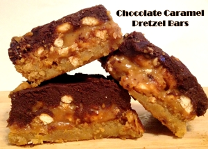 Chocolate Caramel Pretzel Bar