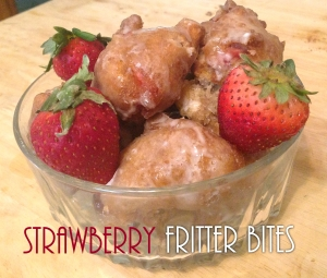 Strawberry Fritter Bites
