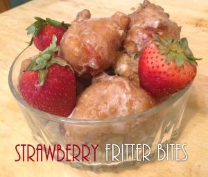 Strawberry Fritter Bites